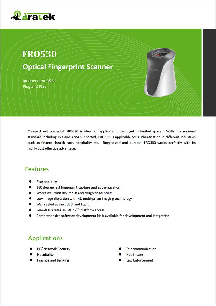 Aratek Optical Fingerprint Scanner - FRO530