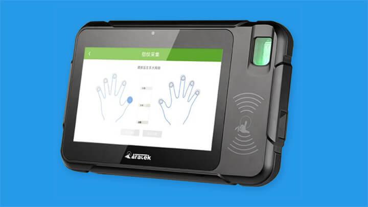 aratek biometric mobile fingerprint smart terminal